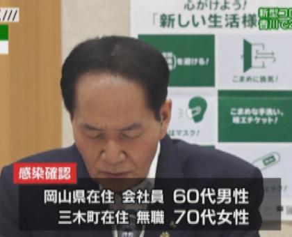 新型コロナ 香川県で昨夜 新たに2人感染確認
