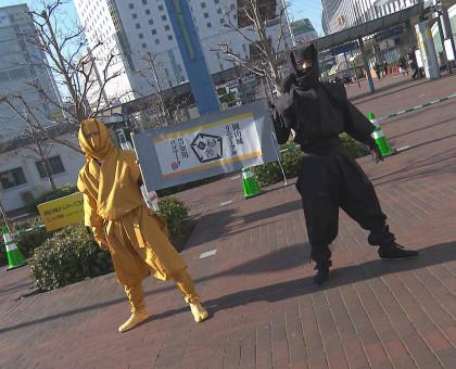 岡山城のリニューアル 忍者がPR