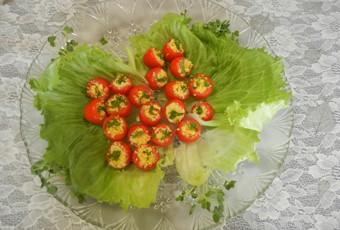 靖子おばあちゃんの花サラダ