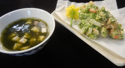 「道子おばあちゃんのアオサ料理」