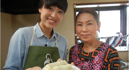 「美智子おばあちゃんの鶏ミンチの湯葉巻揚げ」