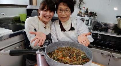 定子おばあちゃんのしし肉ゴボウ炒め